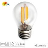 Лампа светодиодная DELUX BL50B 4Вт filam 2700K 220В E27 теплый белый